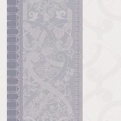 Serviettes de table jacquard pur lin Symphonie Nuage, Garnier-Thiébaut