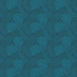 Coton enduit nappe Mille Evergreen Océan, laize 155cm, Garnier-Thiébaut
