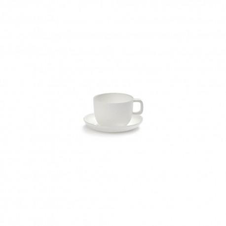 Tasse et soucoupe à Expresso porcelaine blanche Base, Serax by Piet Boon