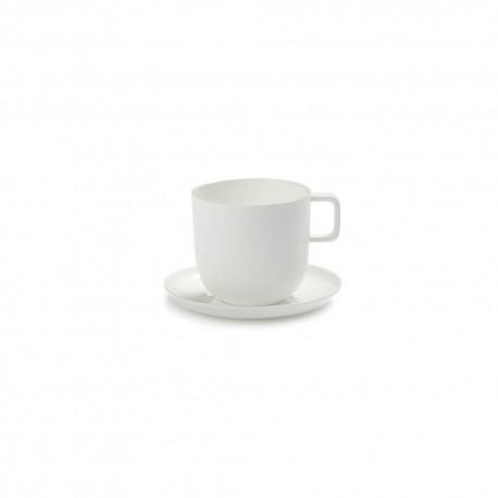 Tasse à café et soucoupe porcelaine blanche Base, Serax by Piet Boon