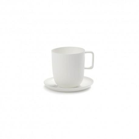 Tasse à thé et soucoupe 35cl porcelaine blanche Base, Serax by Piet Boon