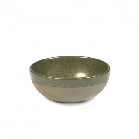 Bol à thé 20cl grès émaillé Surface Camo Green, Serax par Sergio Herman