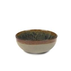 Bol à thé 20cl en grès émaillé Surface Indi Grey, Serax par Sergio Herman
