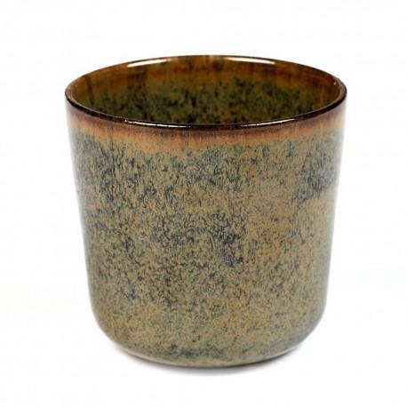 Gobelet 30cl grès émaillé Surface Indi Grey, Serax par Sergio Herman