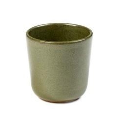 Gobelet à expresso 9cl grès émaillé Surface Camo Green, Serax par Sergio Herman