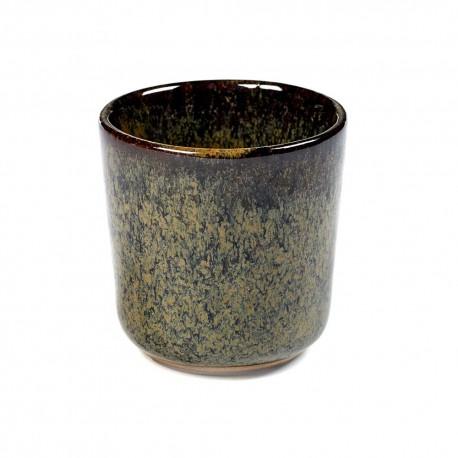Gobelet à expresso 9cl grès émaillé Surface Indi Grey, Serax par Sergio Herman