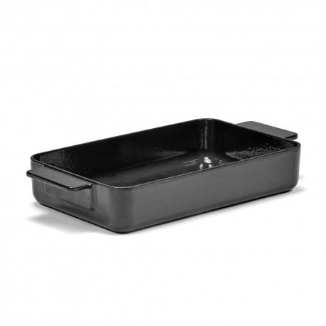Plat à four L en fonte Surface Noir 32x20x6cm Sergio Herman, Serax