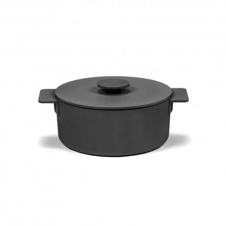 Faitout M en fonte Surface Noir D23cm Sergio Herman, Serax
