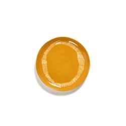 Serax Feast Ottolenghi - Assiettes dessert grès 22.5cmTourbillon Jaune/Blanc