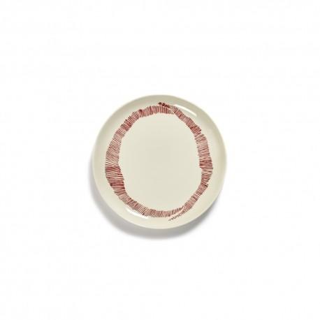 Serax Feast Ottolenghi - Assiettes dessert grès 22.5cmTourbillon Blanc/Rouge