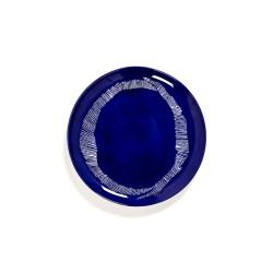 Serax Feast Ottolenghi - Assiettes plates grès 26.5cm Tourbillon Lapis Lazuli/Blanc