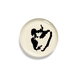 Serax Feast Ottolenghi - Coffret de 2 Assiettes plates grès 26.5cm Poivron Blanc/Noir
