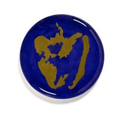 Serax - Plat rond grès 35cm Poivron Lapis Lazuli/Or Feast Ottolenghi