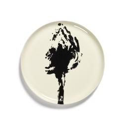 Serax - Plat rond grès 35cm Artichaut Blanc/Noir Feast Ottolenghi