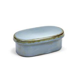 Beurrier ovale grès Terres de Rêves Smokey Blue, Anita Le Grelle - Serax