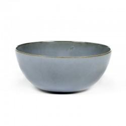 Saladier 18.4cm grès émaillé Smokey blue Terres de Rêves Anita Le Grelle