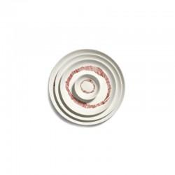 Feast Ottolenghi - Assiettes grès Blanc/Rouge