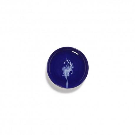 Feast Ottolenghi - Assiette tapas grès 16cm Artichaut Lapis Lazuli/Blanc