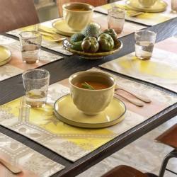 Set de table enduit Hacienda Grès, Le Jacquard Français