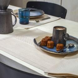 Serviettes de table Slow Life Sable 50x30, Le Jacquard Français