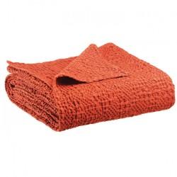Jeté de lit coton stonewashed Tana Rooisbos, Vivaraise