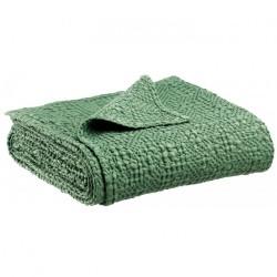 Jeté de lit coton stonewashed Tana Amande, Vivaraise