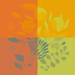Serviettes de table Orange Festival Citrus, Garnier-Thiébaut