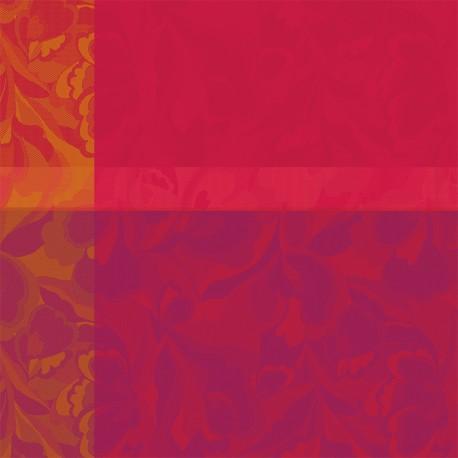 Serviettes de table Mille Folk Cranberry, Garnier-Thiébaut