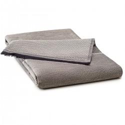 Nappe Nomade coton et lin Slow Life Argile 110x180cm, Le Jacquard Français