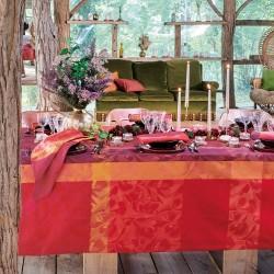 Nappes sur mesure Mille Folk Cranberry laize 185cm, Garnier-Thiébaut