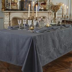 Nappe enduite sur mesure Mille Isaphire Zinc, laize 180cm, Garnier-Thiébaut