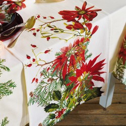 Chemin de table Poinsettias Vintage, Garnier-Thiébaut