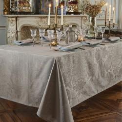 Nappe enduite sur mesure Mille Isaphire Beige, laize 180cm, Garnier-Thiébaut