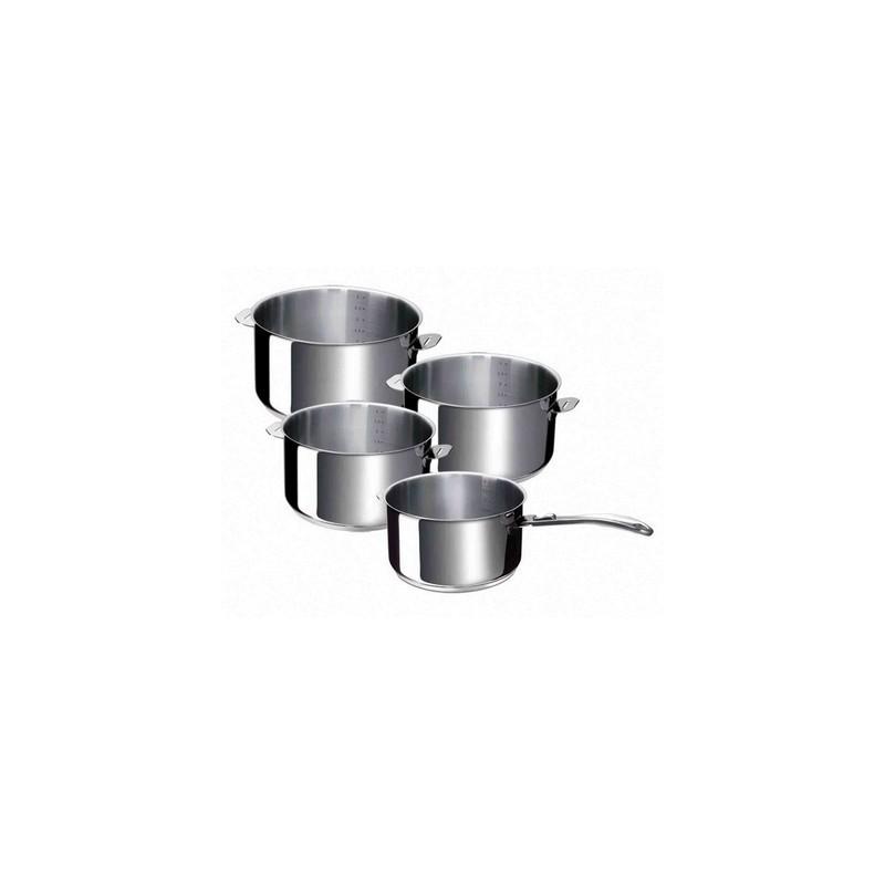 s rie de casseroles inox evolution beka vente de casseroles inox manches amovibles. Black Bedroom Furniture Sets. Home Design Ideas