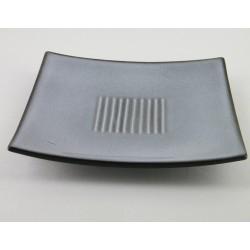Assiettes carrées plates Toba écorce, Jars (par 4)