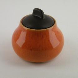 Sucrier Tourron orange, Jars