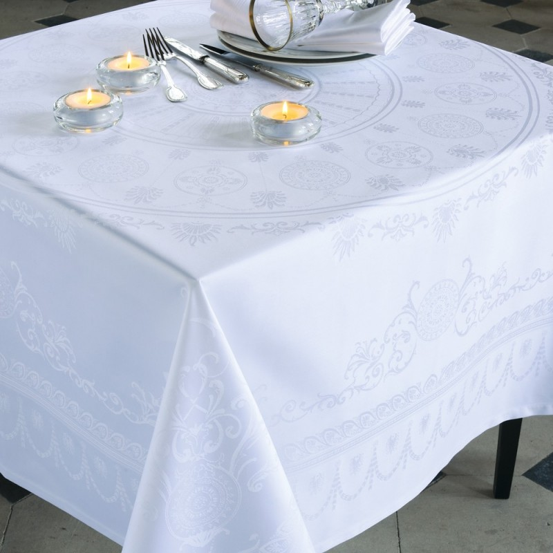 nappe anti tache reception ceremonie blanc nappes haut de gamme. Black Bedroom Furniture Sets. Home Design Ideas