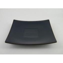 Assiettes carrées plates Toba indigo, Jars (par 4)