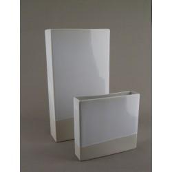 Vase céramique Ipso blanc stuc, Jars