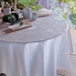 Nappe anti tache Appoline White, Garnier-Thiébaut