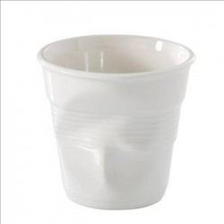 Gobelet froissé espresso 8cl blanc, Revol