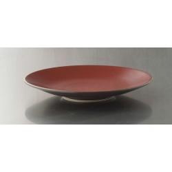 Assiette plate jars ceramiste Tourron cerise