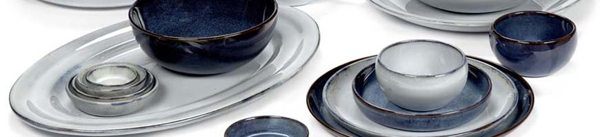 Assiettes ceramique - Pure Bleu Pascale Naessens