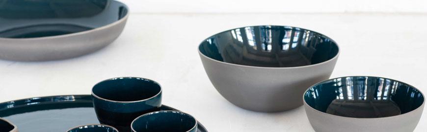 Assiettes gres,service vaisselle RUR:AL Anita Le Grelle Serax