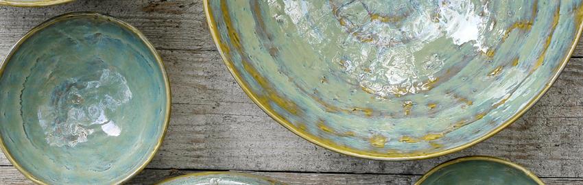 Vaisselle originale Pure Vert de mer, Pascale Naessens