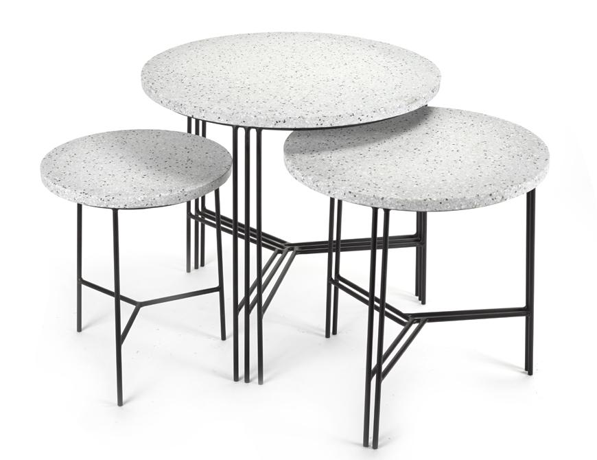 table d appoint design gigogne deco originale terrazzo serax