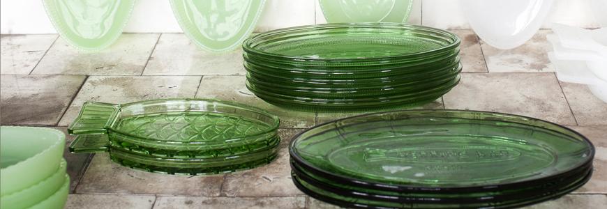Assiette en verre- Vaisselle en verre