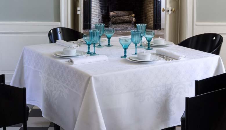 Nappe de réception Azulejos Blanc