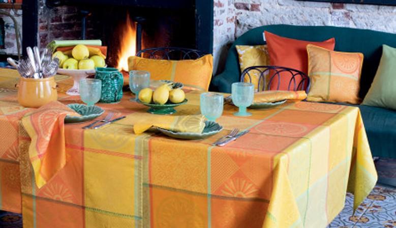 Nappe enduite imperméable Mille Sicilia Limoni