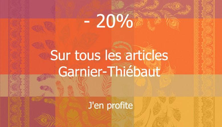-20% sur tous les articles Garnier-Thiébaut